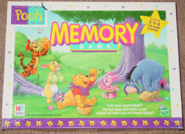 MEMORY GAME POOH 1999 MILTON BRADLEY #04716 MADE IN USA COMPLETE - $10.00