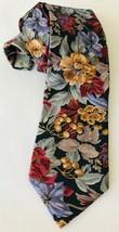 Adolfo Men's Tie Necktie Woven Floral Tapestry Style Design - $19.34