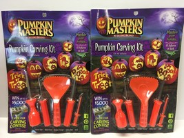 (2 PACK) Pumpkin Masters Pumpkin Carving Kit with 10 Patterns, 5 Tools H... - £7.77 GBP