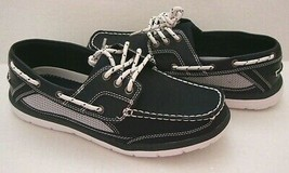 New Croft & Barrow Men's Clayton Ortholite Boat Shoes Navy Size 9.5M - $49.49