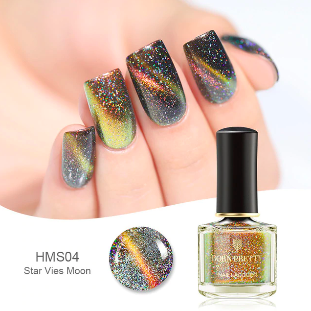 HOLOGRAPHIC 3D MAGNETIC SERIES Glitter Varnish Magnet Nail Art Lacquer image 7