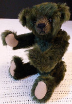 """Forest Green Mohair Artist Teddy Bear 8"""" Fully Jointed Charming! - $34.65"""