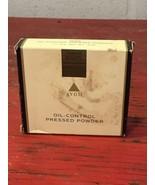 Vintage Avon Oil Control Press Powder Compact Deep-Dark 1994 New - $28.93