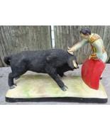 Vintage Ceramic Matador and Bull Figurine - $18.00