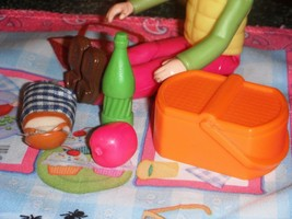 Picnic Lunch Bread Apple Soda Pop Lot fits Fisher Price Loving Family Do... - $6.99