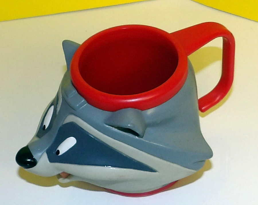 Primary image for Disney Pocahontas Raccoon MEEKO Figural Composite Plastic Cup Mug by Applause