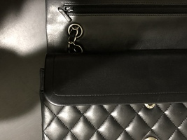 100% Authentic Chanel BLACK QUILTED LAMBSKIN MEDIUM CLASSIC DOUBLE FLAP BAG SHW image 10
