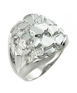 NWT 925 Pure Sterling Silver Bold Men's Nugget Ring All / Any Size Made ... - $64.80