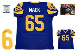 Tom Mack Autographed SIGNED Custom Jersey - Beckett Authenticated w/ Photo - BLU - $108.89