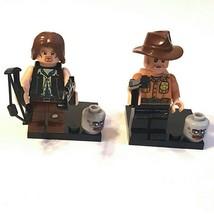 "1.75"" 2 Piece TWD Series Set: Daryl Dixon & Rick Grimes Custom Mini Figu... - $9.99"