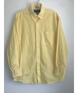 Tommy Hilfiger Regular Fit Button Down Shirt 15 1/2 32-33 Yellow Gingham... - $19.79