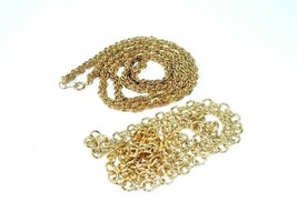 90s Hip Hop Chain necklace lot of 2 metal Link gold tone streetwear vintage - $23.71