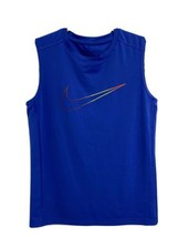 Nike Dr-Fit fitted youth boys sleeveless t-shirt blue size L - $13.75