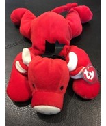 """Vintage Ty Pillow Pal The """"RED"""" BULL PLUSH Baby Lovey 1997 w/Tags Stitch... - $14.84"""