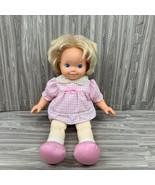 "Vintage Tyco Magic Potty Baby Doll 1991 Blond Hair Blue Eye 15"" Original... - $24.99"