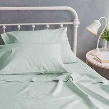 Welhome Twin Size 100% Organic Cotton Sateen Sheet Set of 3 Piece - GOTS Certifi