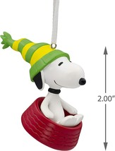 Hallmark Ornament 2019 Peanuts Snoopy in a Red Bowl - £7.61 GBP