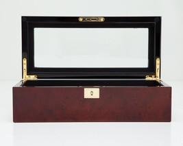 Wolf Savoy 5 Piece Watch Box Storage Chest Organizer Case Burlwood - $145.00