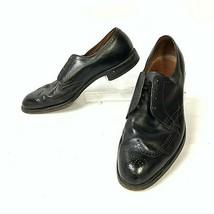 Allen Edmonds Wingtip Oxford Black Size 11.5 B COMB 2645  (sh-329) - $74.44