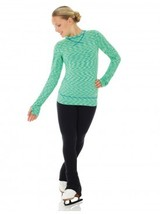 Mondor Model 4501 Strata Long Sleeve Top - Girls Color Key Lime Size CHi... - $40.00
