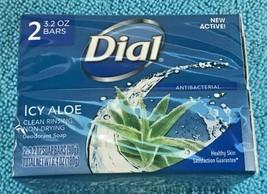 Dial Antibacterial Soap Icy Aloe 2 Bars Free Shipping - $8.90