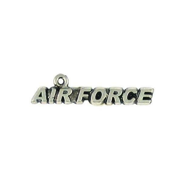 Air Force Word Fine Pewter Cast Charm - 2x8x34mm