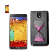 REIKO SAMSUNG GALAXY NOTE 3 3D SAND CLOCK CLEAR CASE IN HOT PINK - $5.91