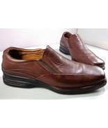 Rockport Loafers Mens Brown Leather Signature Series Slip On Shoes Size ... - $59.35