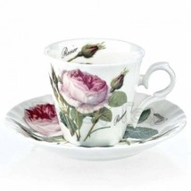 "Roy Kirkham ""REDOUTE ROSE"" Espresso 4 PC SET FINE BONE CHINA MADE IN ENG... - $49.30"