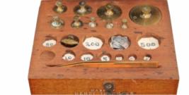 Vtg Henry Troemner Arthur H. Thomas Set Brass Balance Scale Weight Calibration image 3