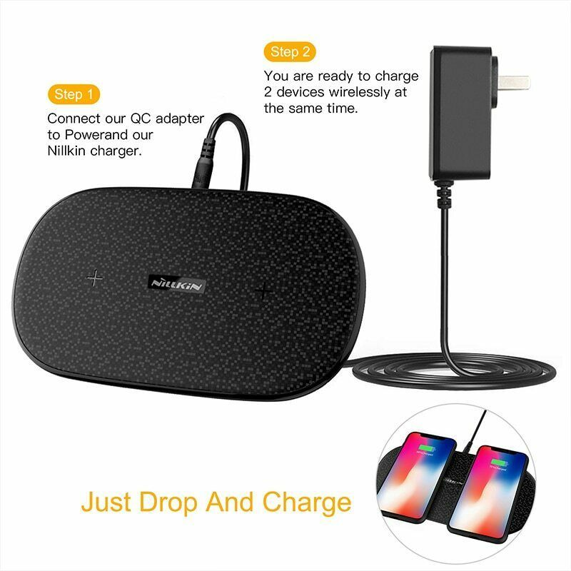 Fast Dual 2 In 1 Wireless Charger Xiaomi 9 Mix 2S Qi Pad Samsung Galaxy S10 5G image 2