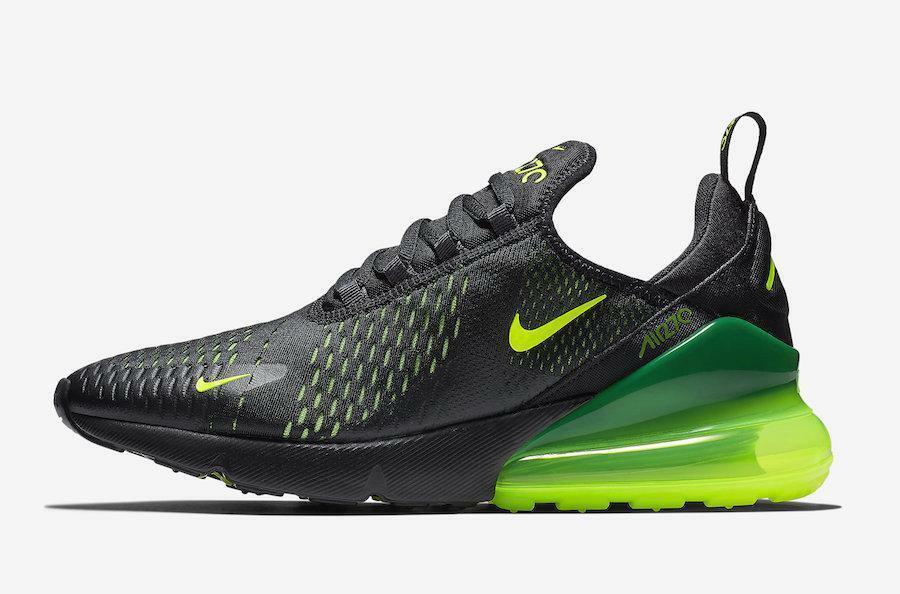 on sale 58520 06d46 Mens Nike Air Max 270 Black Volt Oil Grey AH8050-017 - 134.99