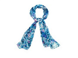 Calvin Klein Long Wildflower Chiffon Scarf - $16.82