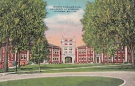Walter Williams Hall University of Missouri Columbia 1949 Lamar MO Postc... - $6.99