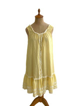 Vintage 1960s Lady Weldon Women's Yellow Gingham Checked Nightgown Gown ... - $23.23