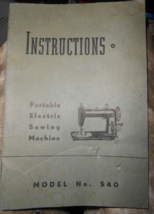Eldredge Model S40 Instruction Booklet Complete 32 Page Guide - $12.50