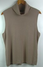 Devotion by Cyrus Turtleneck Large Pullover Sweater Sleeveless Brown NWOT - $23.76