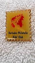 Barbadios Philatelic Kids Club Pin Pinback - $9.49