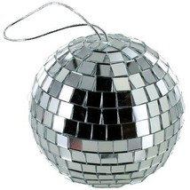 6 NEW 4 INCH SILVER MIRROR DISCO BALL party supplies reflection mirrors ... - $22.51