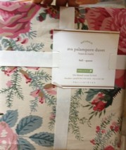 Pottery Barn Ava Duvet Cover Pink Queen 2 Standard Shams Marie Blooming Flowers - $169.00