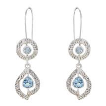 resplendent Blue Topaz 925 Sterling Silver Blue genuine supplies US gift - $37.99