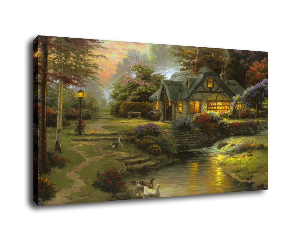 0179 stillwater cottage  thomas kinkade 26x36 1