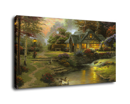 Landscape Art Streams of living Oil Painting Print On Canvas Home Decor ... - $19.99+