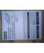 Ryobi Operator Manual for 18V Autoshift Drill Driver - $14.24