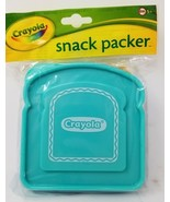 Crayola Sandwich Snack Packer Container Teal Top Blue Bottom BPA Free Bread - $3.95