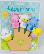 Happy Friends Finger Puppets 5 Piece Set baby and bath-time toy - $12.72