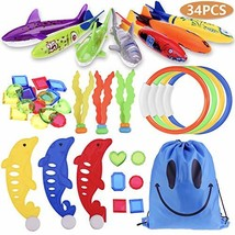 Faburo 34pcs Underwater Sinking Swimming Diving Pool Toy for Kids Summer... - $24.54