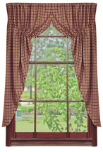 Olivia's Heartland country primitive Vintage Star fabric window PRAIRIE CURTAINS - $62.95