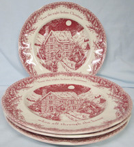 Johnson Brothers Red Twas the Night Dinner Plate set of 4 - $79.09