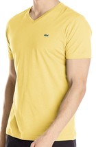Lacoste Men's Casual Premium Pima Cotton Sport V-Neck Shirt T-Shirt Gold